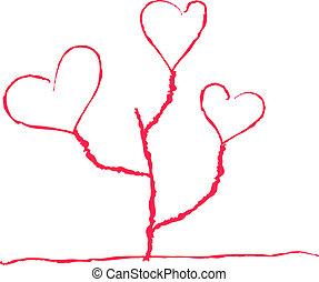 Herzförmige Blume.