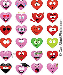 Herzförmige Smileys