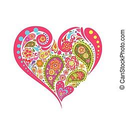 Herzfloraform mit Petersilie.