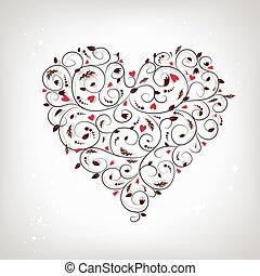 Herzform, Blumenschmuck für dein Design
