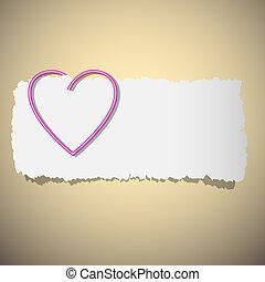 Herzformierte Büroklammer