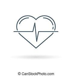 Herzimpuls Icon weißer Hintergrund