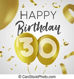 Herzlichen Glückwunsch zum 30. Geburtstag