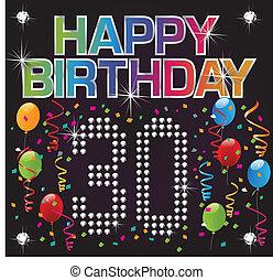 Herzlichen Glückwunsch zum 30. Geburtstag.