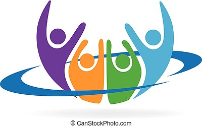 Herzlichen Glückwunsch zum Logo-Vektor.