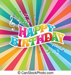 Herzlichen Glückwunsch zur Geburtstagskunstkarte, Sonnenstrahl.