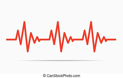 Herzschlag-Icon - Vektorgrafik.