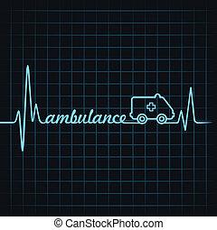 herzschlag, machen, krankenwagen, text