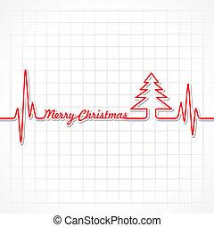 herzschlag, machen, weihnachten, fröhlich, text