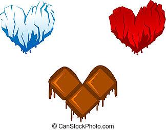 Herzsymbole.