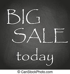 Heute großer Verkauf schwarzer Kreide Hintergrund mit Text eps10.