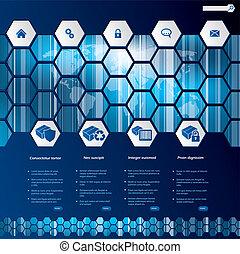 Hexagon-Stil-Web-Stil-Schablone