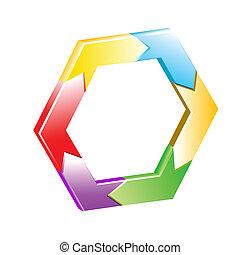 Hexagon Vektor-Hintergrund