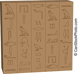 Hieroglyphen.