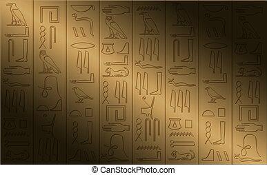 Hieroglyphisches Poster