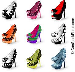 High-Heel-Frau-Schuhe