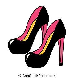 High Heel Schuhe Mode.