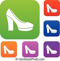 High Heel Schuhe Set Kollektion