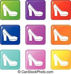 High Heels Schuhe, 9.