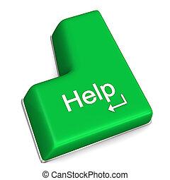 Hilfe, Schlüssel zu öffnen