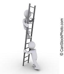Hilft, die Leiter hochzuklettern