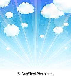 Himmel und Wolke