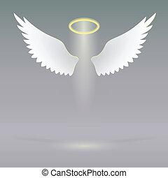 himmlisch, flügeln, engelchen