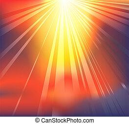 himmlisch, licht, hintergrund