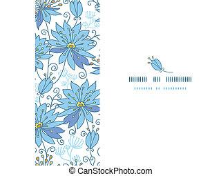 Himmlische Blumen horizontalem Muster Hintergrund