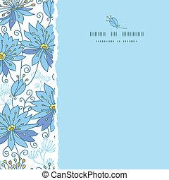 Himmlische Blumen quadrat, samtloser Muster Hintergrund