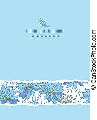 Himmlische Blumen senkrecht zerrissene Muster Hintergrund.