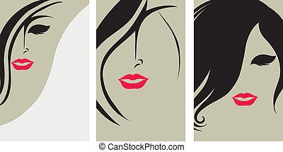 Hintergründe mit Haarstyling