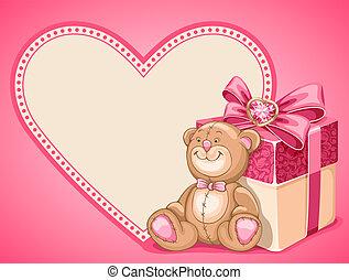 Hintergrund am Valentinstag