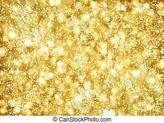 Hintergrund der goldenen Lichter abbrechen
