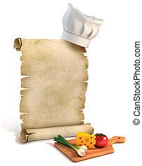 Hintergrund für Rezepte, Kochtipps