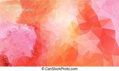 Hintergrund geometrischer Formen. Retro-Dreieck. Farbiges Mosaikmuster.