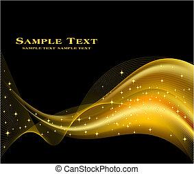 hintergrund, goldenes, vektor, abstrakt