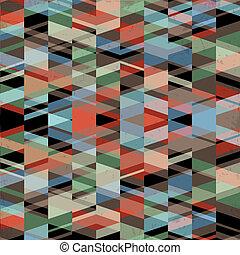 hintergrund, grunge, retro, geometrisch