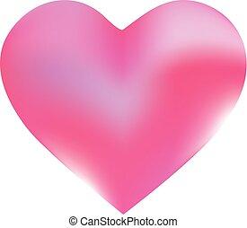 hintergrund, heart., form, gefärbt