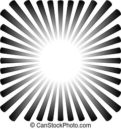Hintergrund in Form einer schwarzen Sonne mit Strahlen