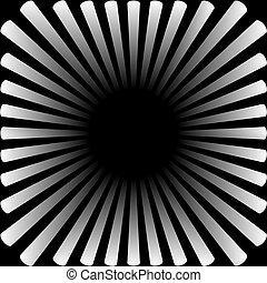 Hintergrund in Form einer weißen Sonne mit Strahlen