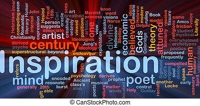 hintergrund, inspiration, glühen, begriff