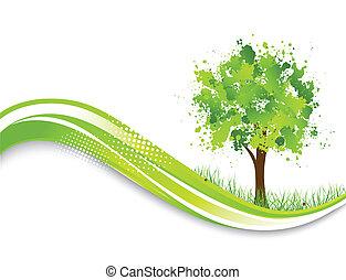 Hintergrund mit abstraktem Grünbaum