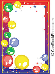 Hintergrund mit Ballons