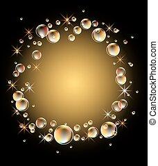Hintergrund mit Blasen.