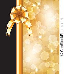 Hintergrund mit Bogen, Sternen und verschwommenem Licht