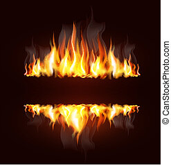 Hintergrund mit brennender Flamme