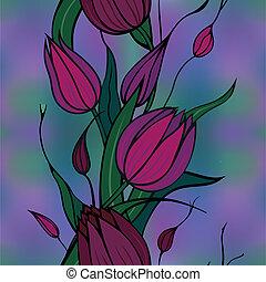 Hintergrund mit Claret-Blumen