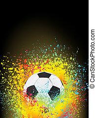 Hintergrund mit einem Fußball abbrechen. EPS 8