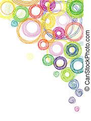 Hintergrund mit farbigen Kreisen abbrechen
